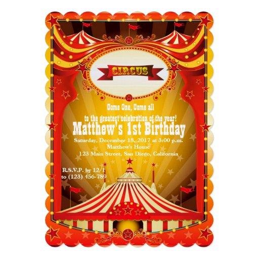 Invitaciones del carnaval del circo del fiesta el invitación