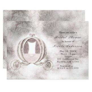 Invitaciones del carro de Cenicienta del guión del Invitación 12,7 X 17,8 Cm