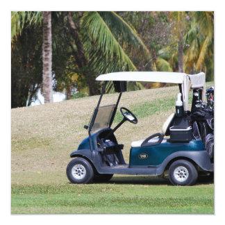Invitaciones del carro de golf comunicado personal