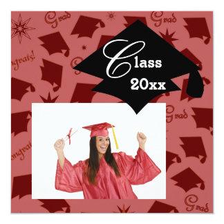 Invitaciones del casquillo de la graduación invitación 13,3 cm x 13,3cm
