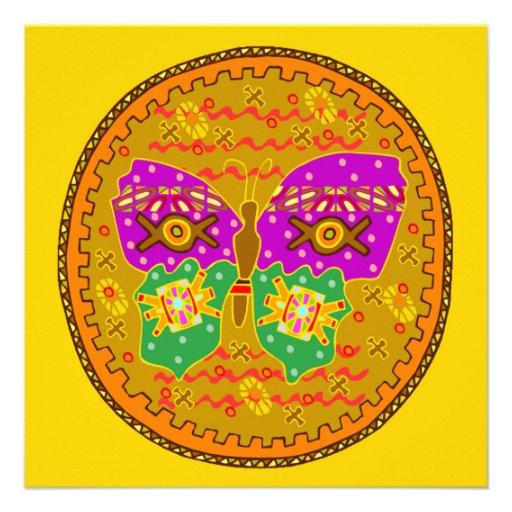 Invitaciones del círculo de la mariposa invitaciones personales