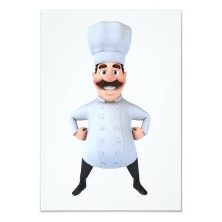 Invitaciones del cocinero invitación 8,9 x 12,7 cm