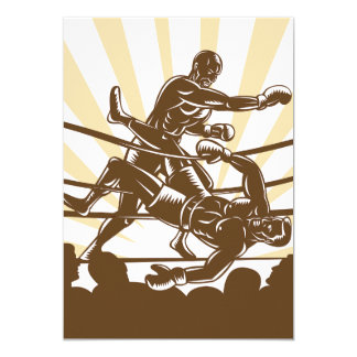 Invitaciones del combate de boxeo