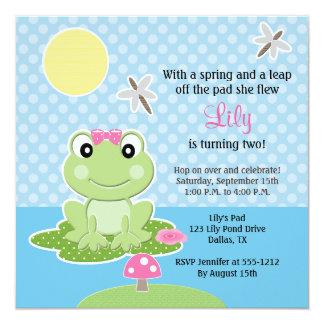 Invitaciones del cumpleaños de la cal y de la rana