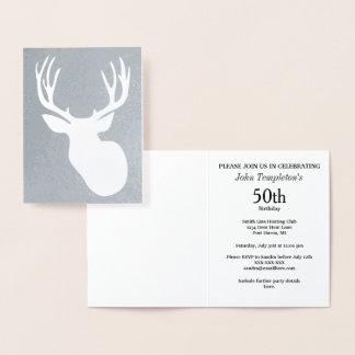 Invitaciones del cumpleaños de la caza de los