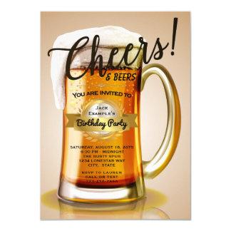 Invitaciones del cumpleaños de la cerveza invitación 11,4 x 15,8 cm