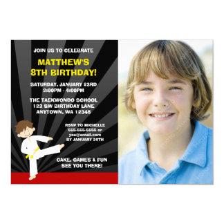 Invitaciones del cumpleaños de la correa del invitación 12,7 x 17,8 cm