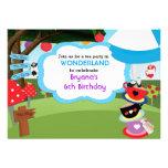 Invitaciones del cumpleaños de la fiesta del té comunicado personalizado