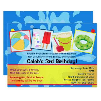 Invitaciones del cumpleaños de la fiesta en la