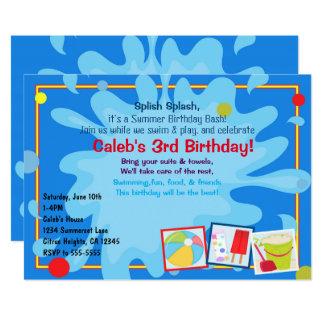 Invitaciones del cumpleaños de la fiesta en la invitación 12,7 x 17,8 cm