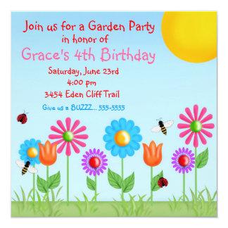 Invitaciones del cumpleaños de la mariquita de la invitación 13,3 cm x 13,3cm