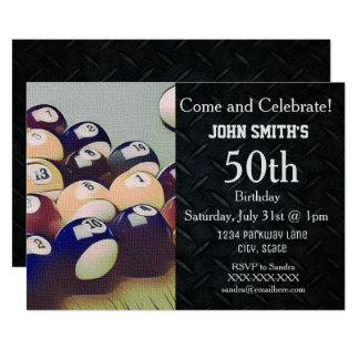 Invitaciones del cumpleaños de los hombres adultos invitación 12,7 x 17,8 cm