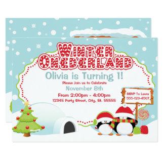 Invitaciones del cumpleaños de ONEderland del