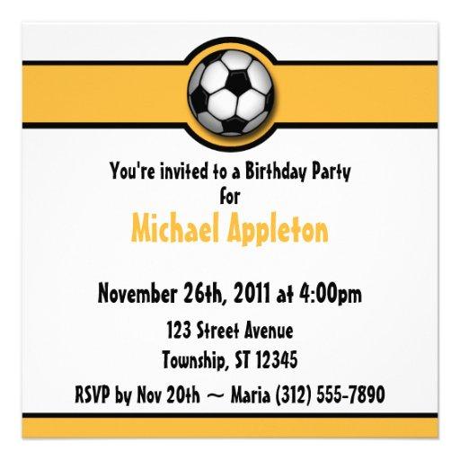 Invitaciones del cumpleaños del amarillo/del oro d invitaciones personalizada