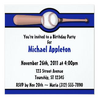 Invitaciones del cumpleaños del azul real del invitación 13,3 cm x 13,3cm