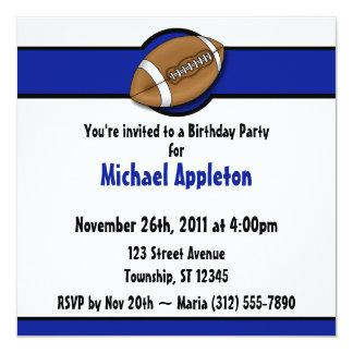 Invitaciones del cumpleaños del azul real del comunicados personales