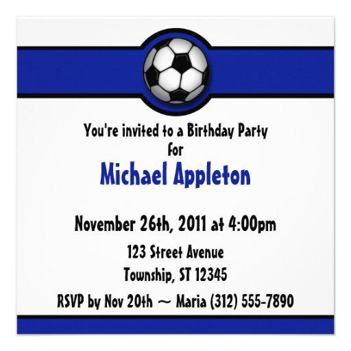 Invitaciones del cumpleaños del azul real del baló anuncio