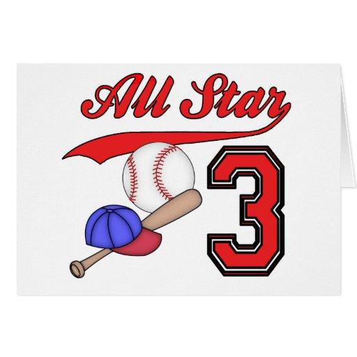 Invitaciones del cumpleaños del béisbol de All Sta Tarjeton