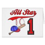 Invitaciones del cumpleaños del béisbol de All Sta Felicitaciones