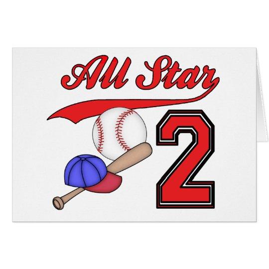 Invitaciones del cumpleaños del béisbol de All Tarjeta Pequeña