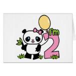 Invitaciones del cumpleaños del chica de la panda  tarjeta