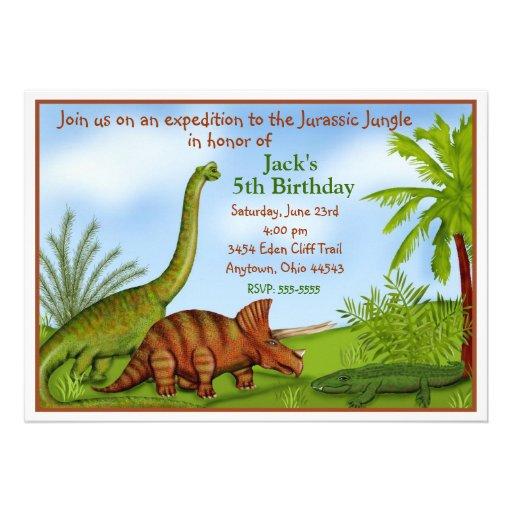 Tarjetas De Invitación Para Cumpleaños De Dinosaurios Imagui