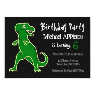 Invitaciones del cumpleaños del dinosaurio de invitación 12,7 x 17,8 cm