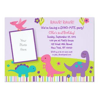Invitaciones del cumpleaños del dinosaurio de la invitación 11,4 x 15,8 cm