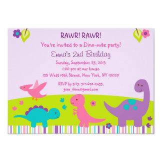 Invitaciones del cumpleaños del dinosaurio del invitación 11,4 x 15,8 cm
