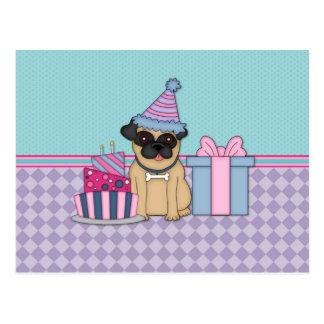 Invitaciones del cumpleaños del espacio en blanco  tarjetas postales