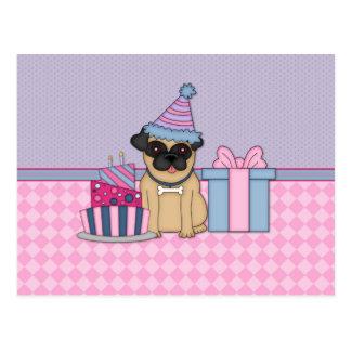 Invitaciones del cumpleaños del espacio en blanco  postal