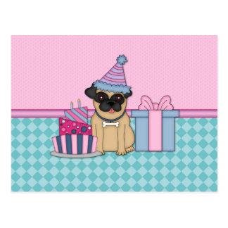 Invitaciones del cumpleaños del espacio en blanco  tarjeta postal