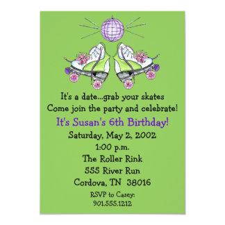 Invitaciones del cumpleaños del patín de ruedas invitación 12,7 x 17,8 cm