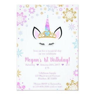 Invitaciones del cumpleaños del unicornio del