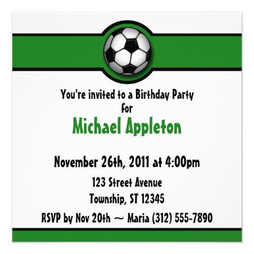 Invitaciones del cumpleaños del verde del balón de invitaciones personalizada