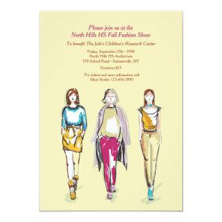 Invitaciones del desfile de moda invitación 12,7 x 17,8 cm