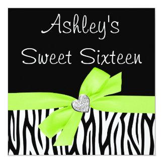 Invitaciones del dulce 16 del diamante del arco de invitación 13,3 cm x 13,3cm