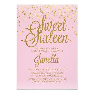 Invitaciones del dulce 16 invitación 12,7 x 17,8 cm