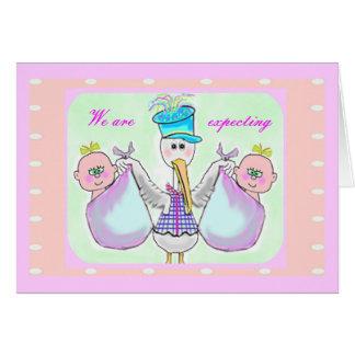 Invitaciones del embarazo tarjeta
