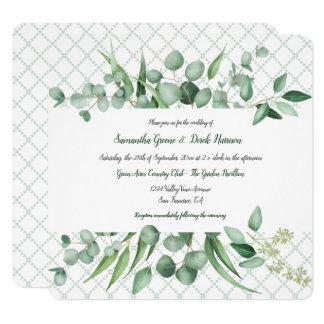 Invitaciones del enrejado de Botanicals de la