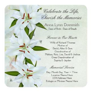 Invitaciones del entierro del lirio blanco invitaciones personales