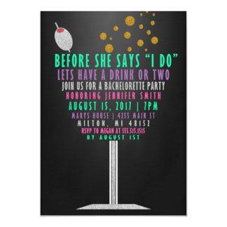 Invitaciones del fiesta de Bachelorette - brillo Invitación 12,7 X 17,8 Cm