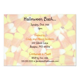 Invitaciones del fiesta de Candycorn Halloween Invitación 12,7 X 17,8 Cm