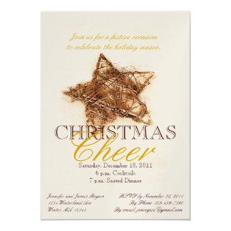 Invitaciones del fiesta de cena de navidad de la invitación 12,7 x 17,8 cm