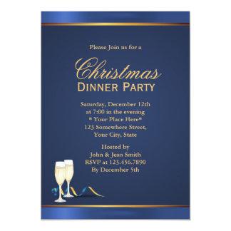 Invitaciones del fiesta de cena de navidad de los anuncios