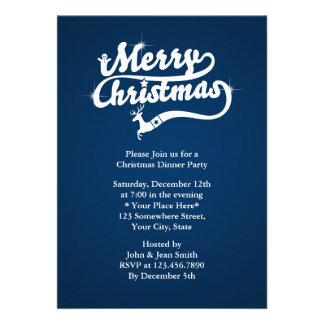 Invitaciones del fiesta de cena de navidad de los