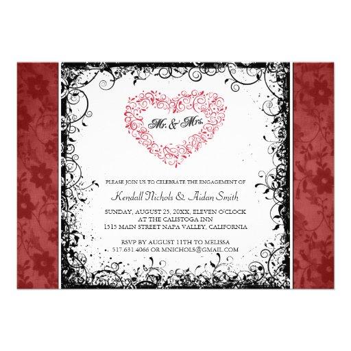 Invitaciones del fiesta de compromiso comunicado
