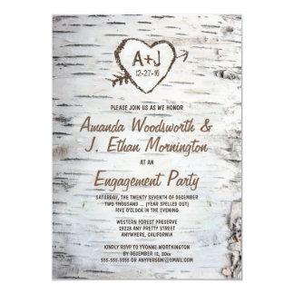 Invitaciones del fiesta de compromiso de la invitación 12,7 x 17,8 cm