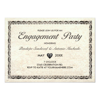 Invitaciones del fiesta de compromiso del invitación 12,7 x 17,8 cm