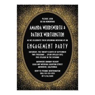 Invitaciones del fiesta de compromiso del art déco